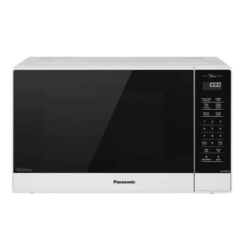 Panasonic Genius 1.2 cu. ft. White Microwave with Inverter Technology;1,200 W