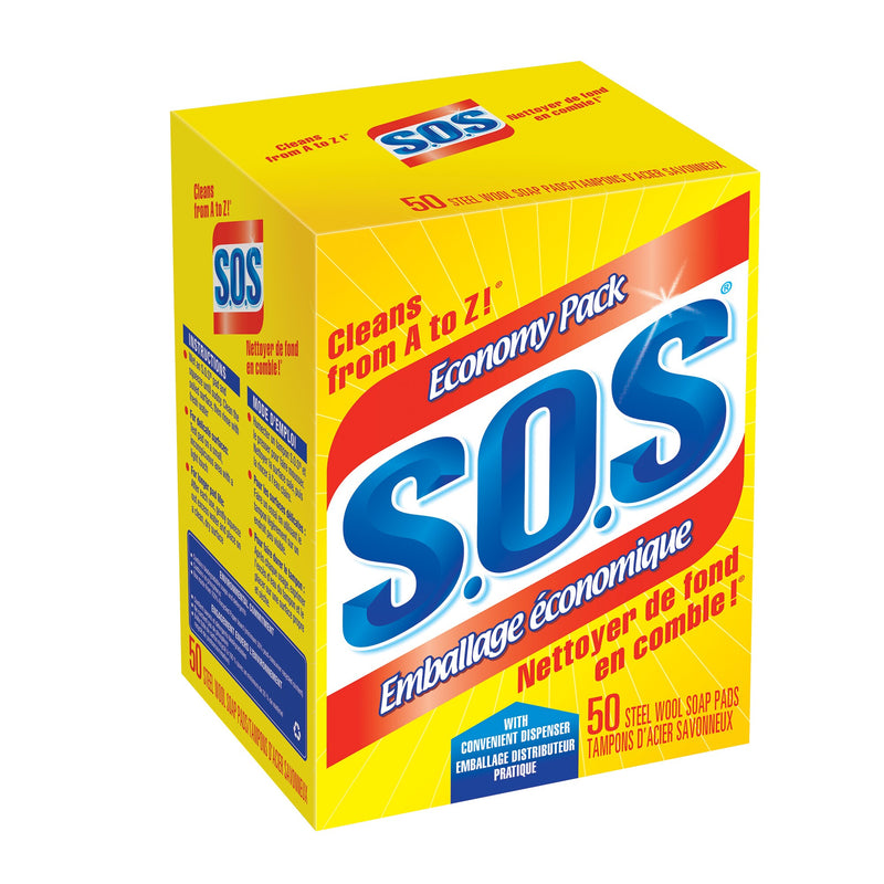 SOS Steel Wool Pads;Pack of 50