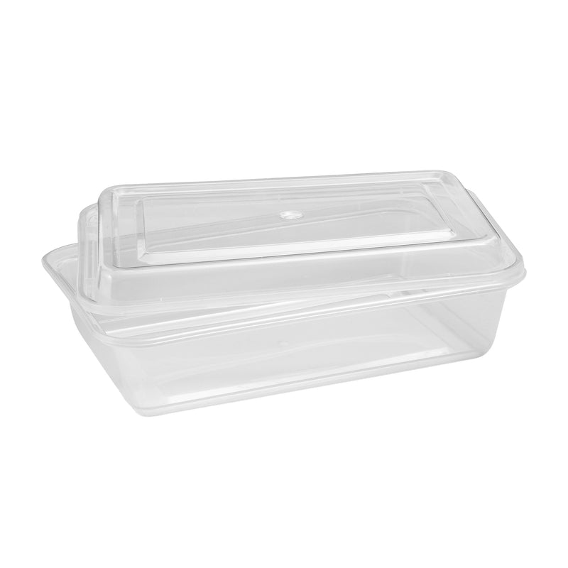Café Express 34-oz Rectangular Containers with Lids;Pack of 50