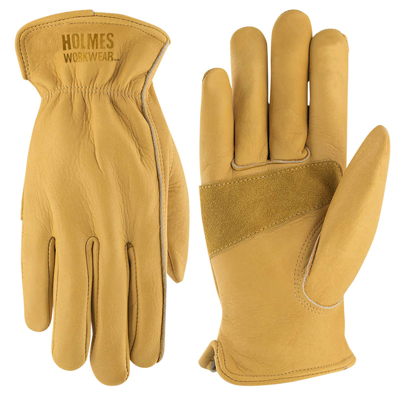 Holmes Cowhide Work Gloves XL;2-pack