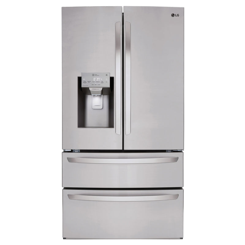 LG 36 in. 28 cu. ft. Stainless-steel French Door Refrigerator with Smudge-resistant Finish and SmartThinQ Wi-Fi