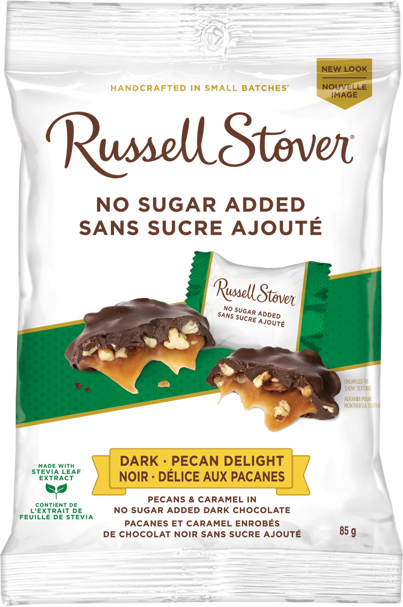 RUSSELL STOVER NSA DARK CHOCOLATE PECAN DELIGHT 85G
