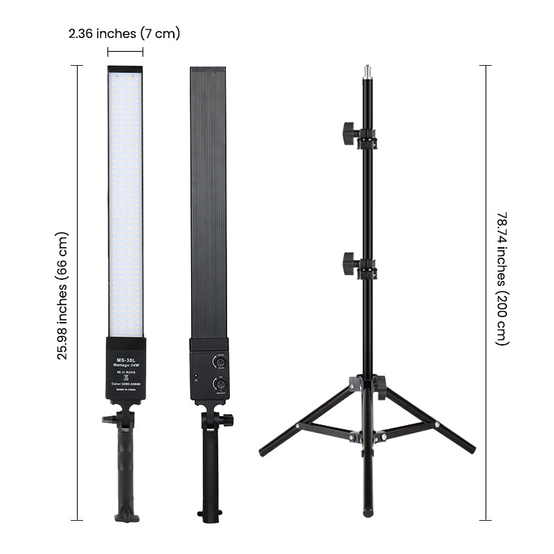 Ringlightus led light panels with stands 06