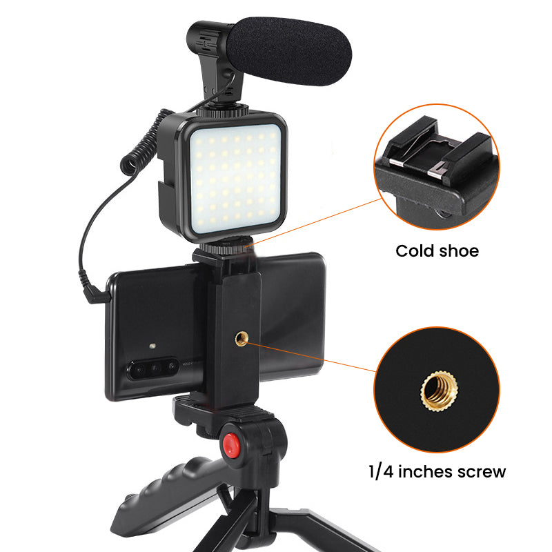 ringlightus led light with microphone kit for vlogging 05