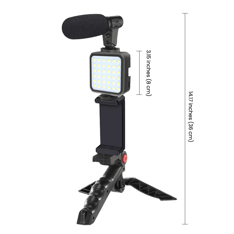 ringlightus led light with microphone kit for vlogging 06