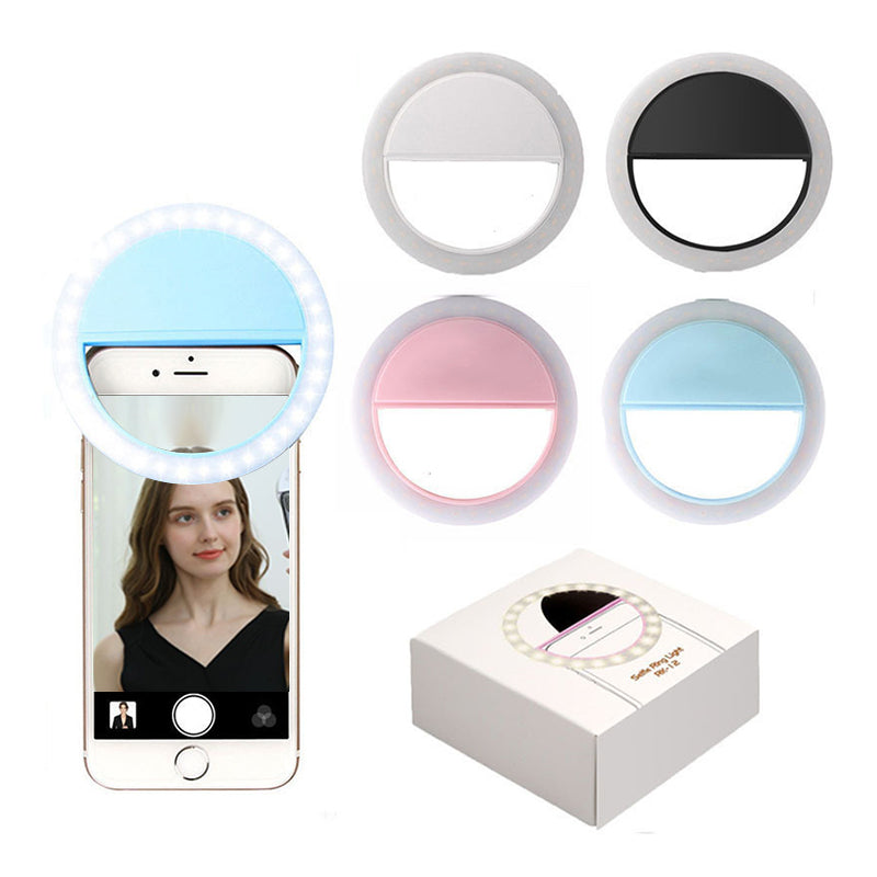 ringlightus phone selfie ring light for available in white blue black and pink