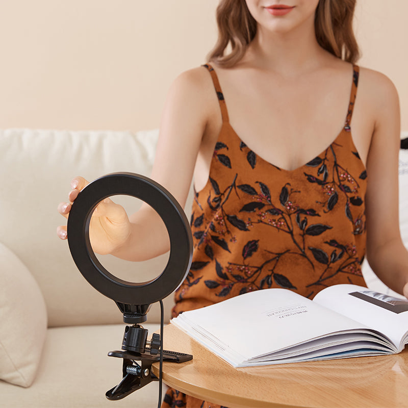 ringlightus ring light with clip adjustable light for any angle