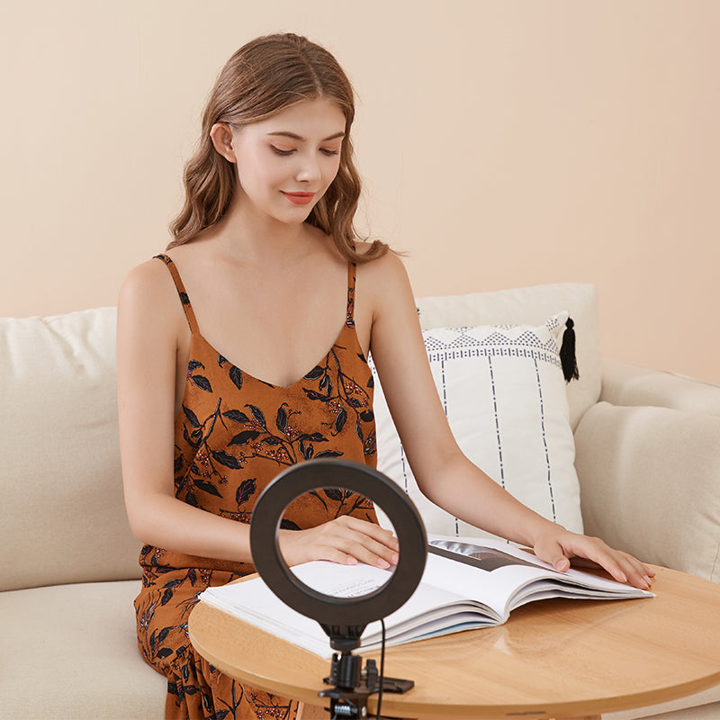 Ringlightus ring light with clip improve light of reading environment