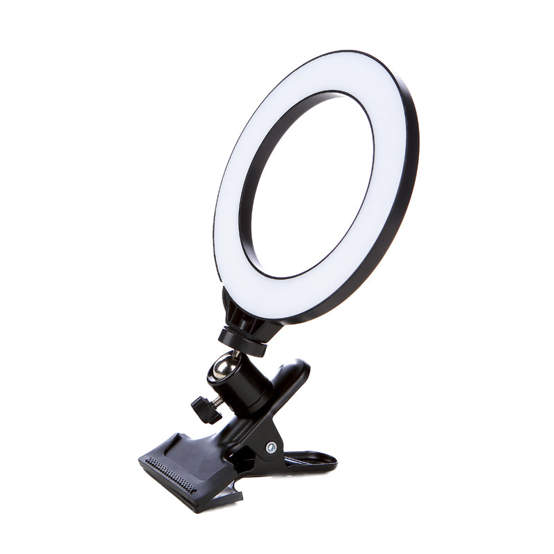 ringlightus ring light with clip for side of view