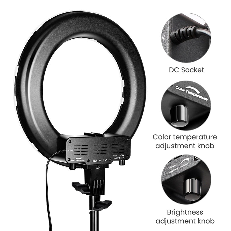 ringlightus 12 inch ring light for easy to adjust buttons 03