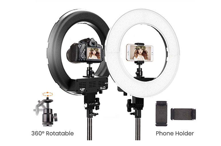 ringlightus 18 inch ring light with stable tripod stand