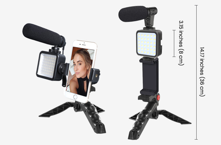 ringlightus led light with microphone kit for vlogging 11