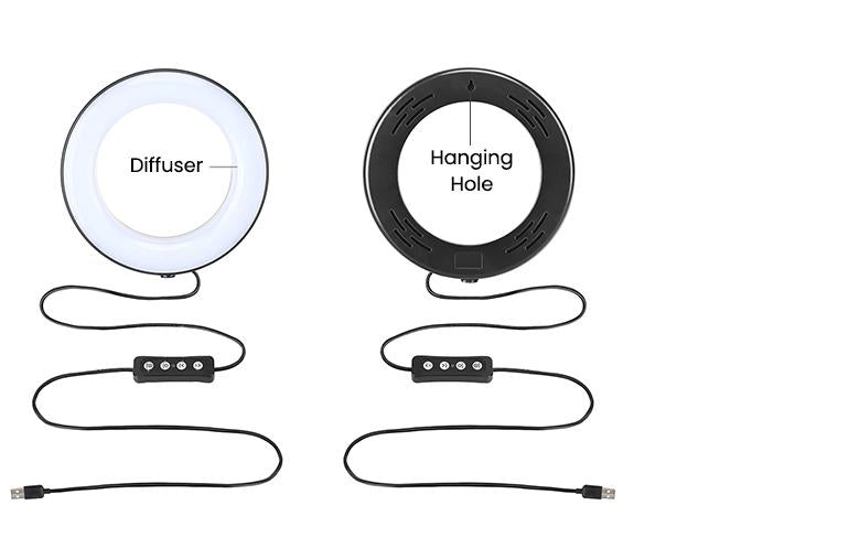 ringlightus 8 inch ring light with can be powered by usb cable