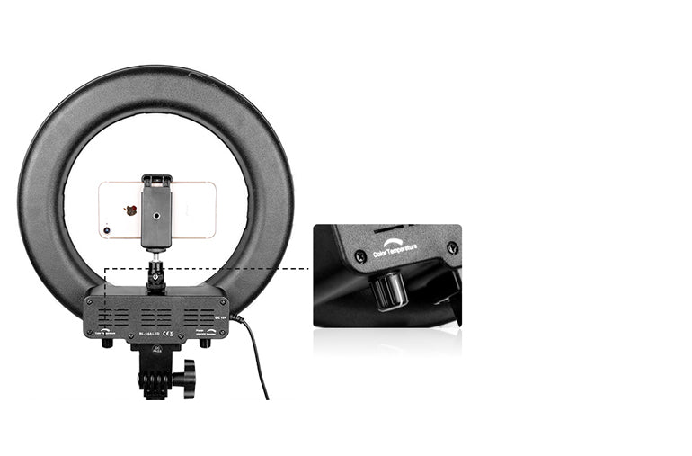 ringlightus 12 inch ring light  with phone stand and various buttons 08