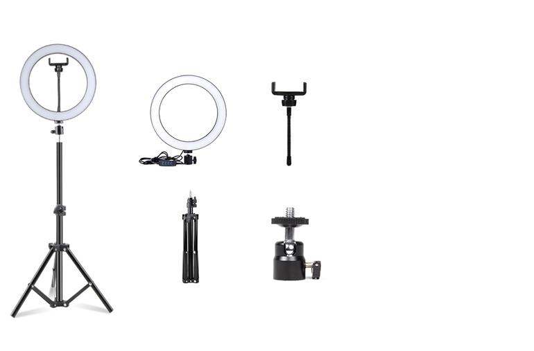 ringlightus 10 inch ring light package included