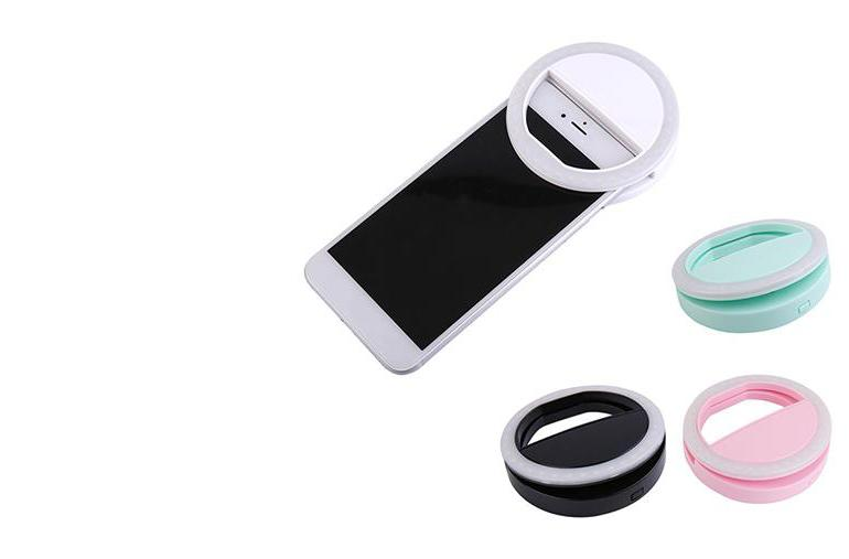 ringlightus phone selfie ring light with 4 colors: white, green, black and pink