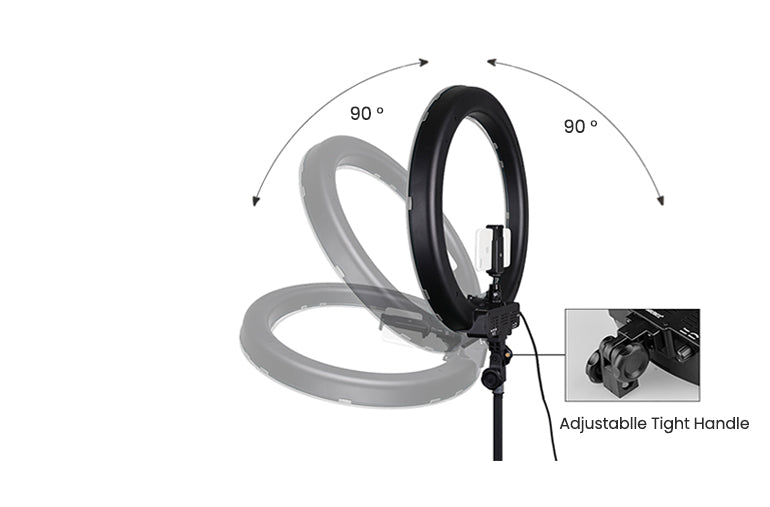 ringlightus 18 inch ring light with 360 degrees rotating head design