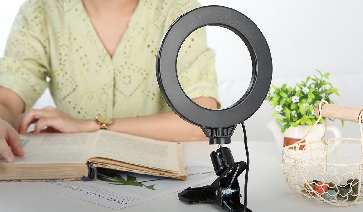 ringlightus ring light with clip create comfortable reading brightness