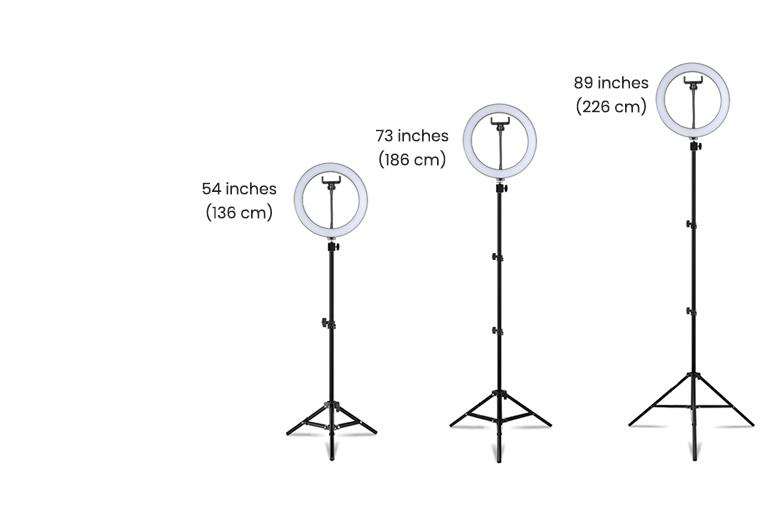 ringlightus 10 inch ring light with stable tripod stand