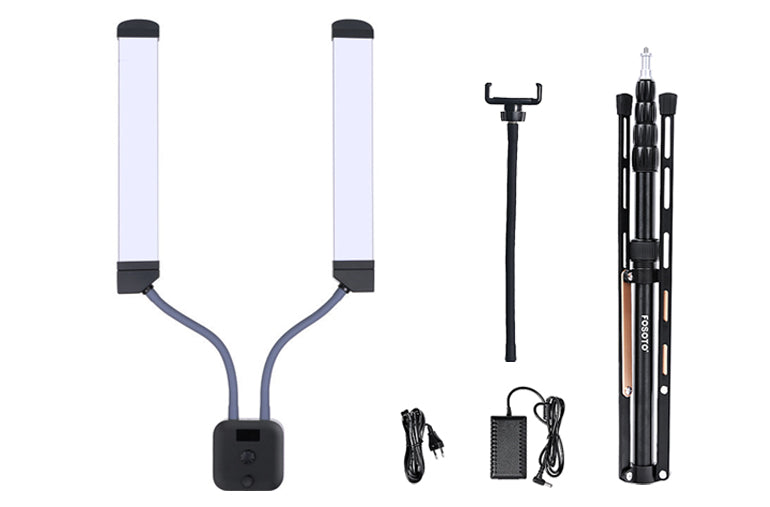 ringlightus dual arms led lights with stand 12