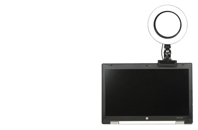 ringlightus ring light with clip stably fixed on desktop computer