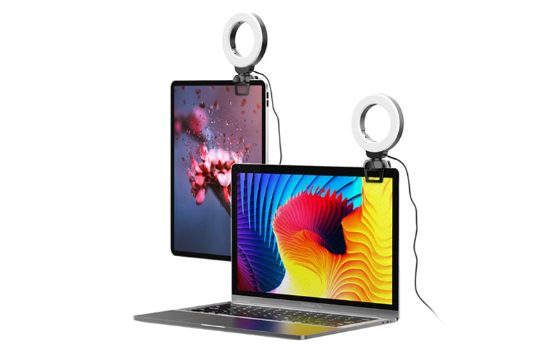Ringlightus 4-inch Ring Light for Laptop and Webcam 10
