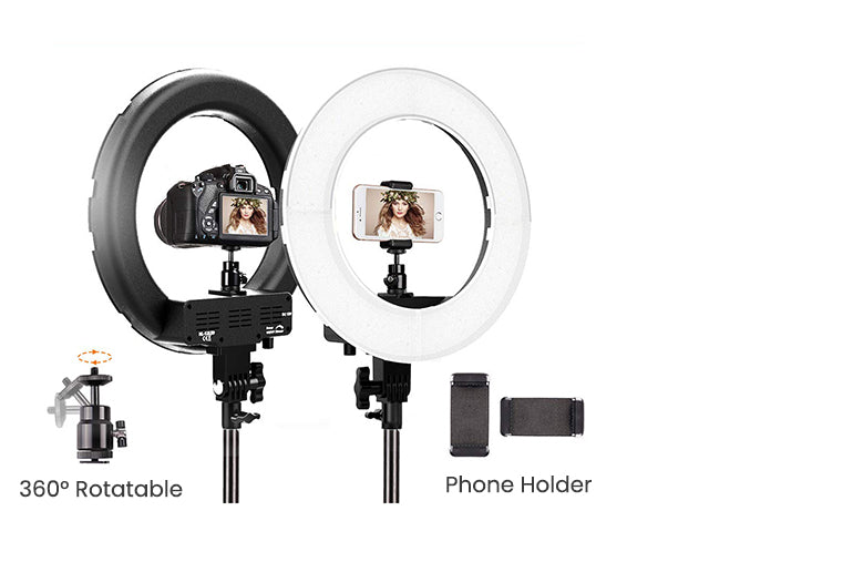 ringlightus 18 inch ring light with 19.2 inches to 70.8 inches stable tripod stand