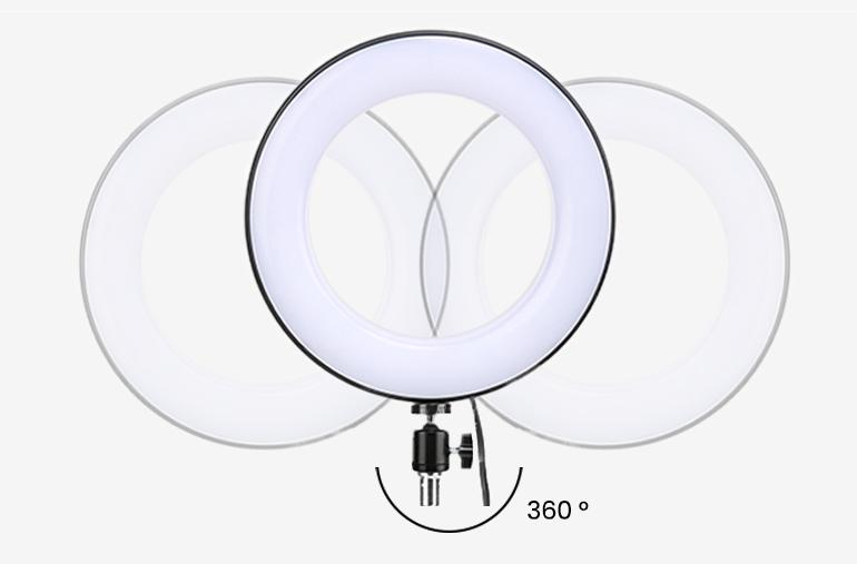 ringlightus 8 inch ring light with 360 degrees rotating head design