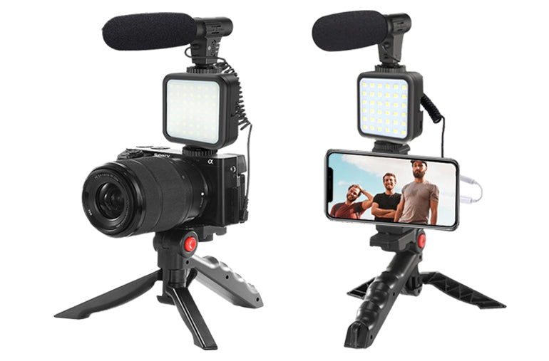 ringlightus led light with microphone kit for vlogging 10