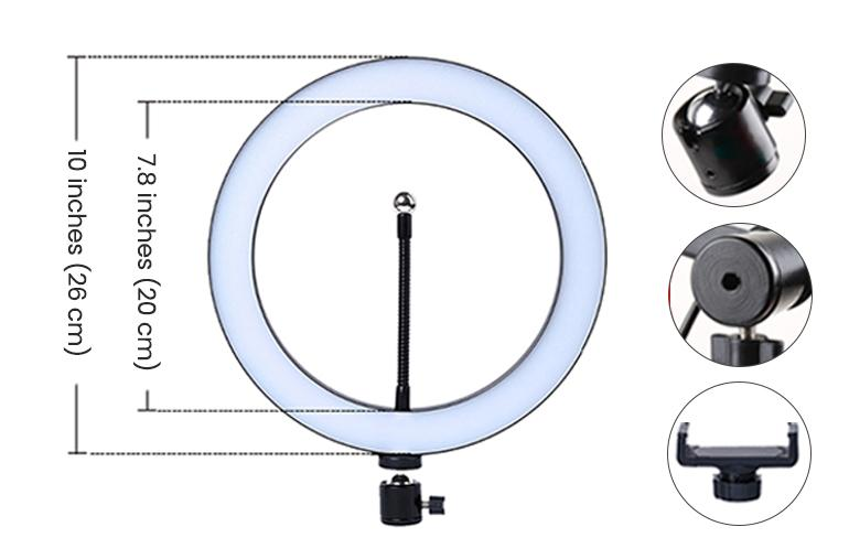 ringlightus 10 inch ring light with detailed design of the ring light