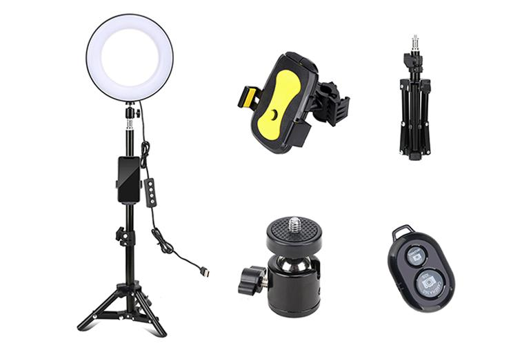 ringlightus 8 inch ring light package included