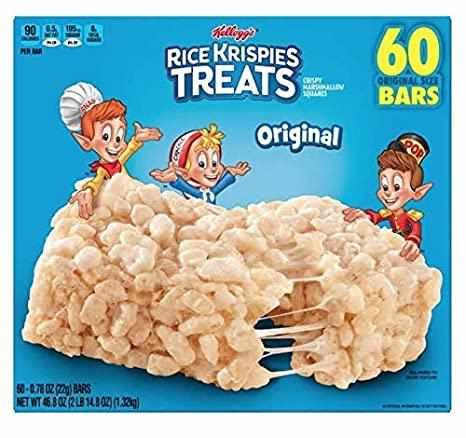 Kellogg's Rice Krispies Treats Original 家樂氏棉花糖米通原味 1盒60條 (038000265013)