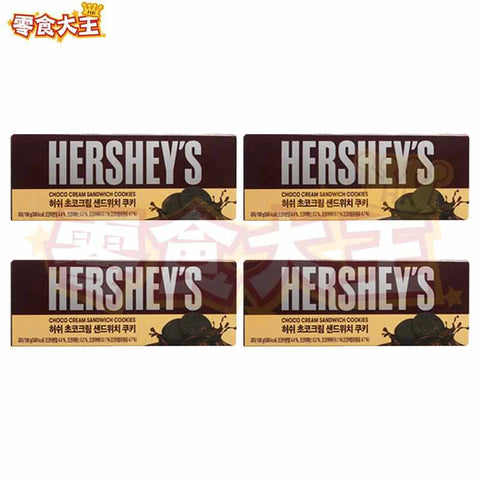 Misung Family Hershey's Choco Cream Sandwich Cookies 好時朱古力夾心曲奇 100g (2塊 x 4包) x 4盒 (8809256676838_4)