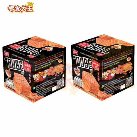 Bissin Stir Fried Salted Egg Spicy Flavour Wafers 鹹蛋(辣)威化餅 20g x 2盒 (8850987369735_2)