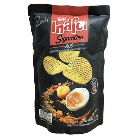 "[泰國直送]""Tasto"" Spicy Flavour Potato Chip with salted egg 50g  辣咸蛋格格脆薯片 50g [咸蛋味]"