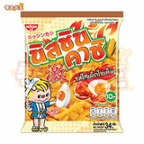 [泰國直送] Nissin Kashi Corn Snack Hot Chili Chicken Salted Egg Flavour 日清 辣椒雞肉鹹蛋味粟米條 34g x 3包 (8852528800042_3)