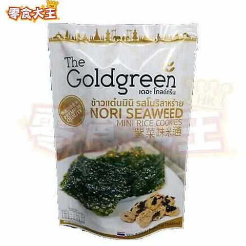 泰國The Goldgreen 一口脆米通(紫菜味) 40克 (8857125343060)
