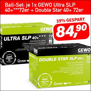 GEWO Ball-Set je 1x Ultra SLP 40+*** + Double Star 40+ 72er