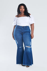 Distressed Wide Leg Jeans