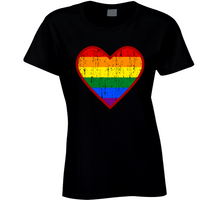 Load image into Gallery viewer, Pride.heart Ladies T Shirt