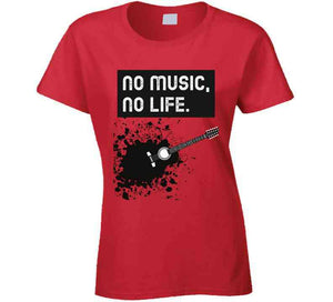 No Music No Life T Shirt
