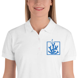 Grow Corals Embroidered Women's Polo Shirt