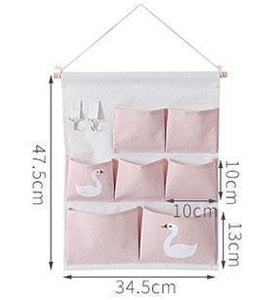 Wall-mounted Multi-Pocket Organizer