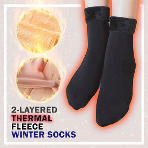 2-layered Thermal Fleece Winter Socks