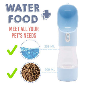 Portable 3 in 1 Water Bottle for Pets