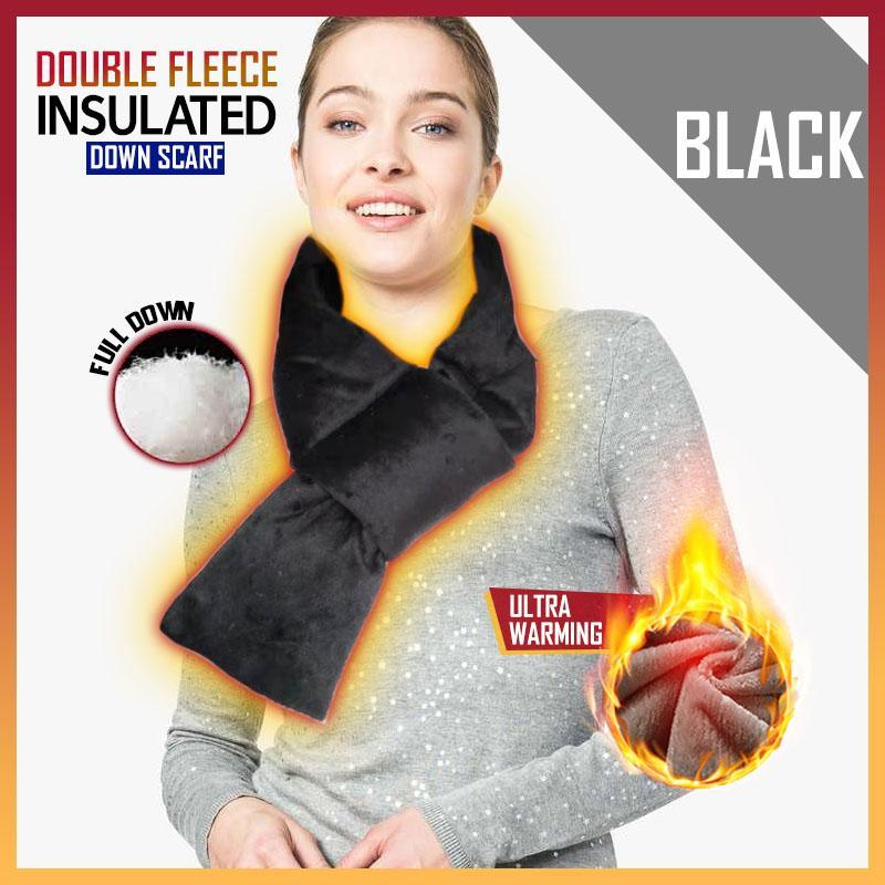 Double Fleece Insulated Down Scarf