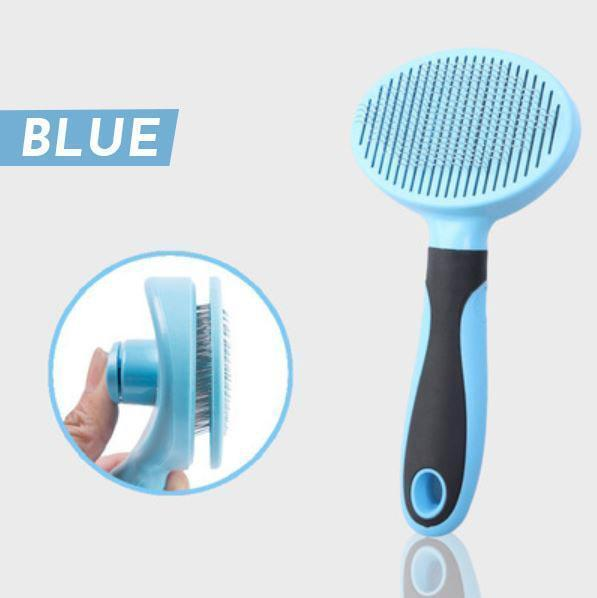 Button Remove Pet Hair Brush
