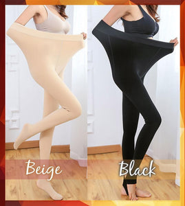 EX Stretchy Winter Thermal Leggings (Plus Size Fit)