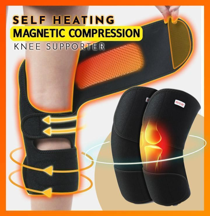 Self Heating Magnetic Compression Knee Supporter