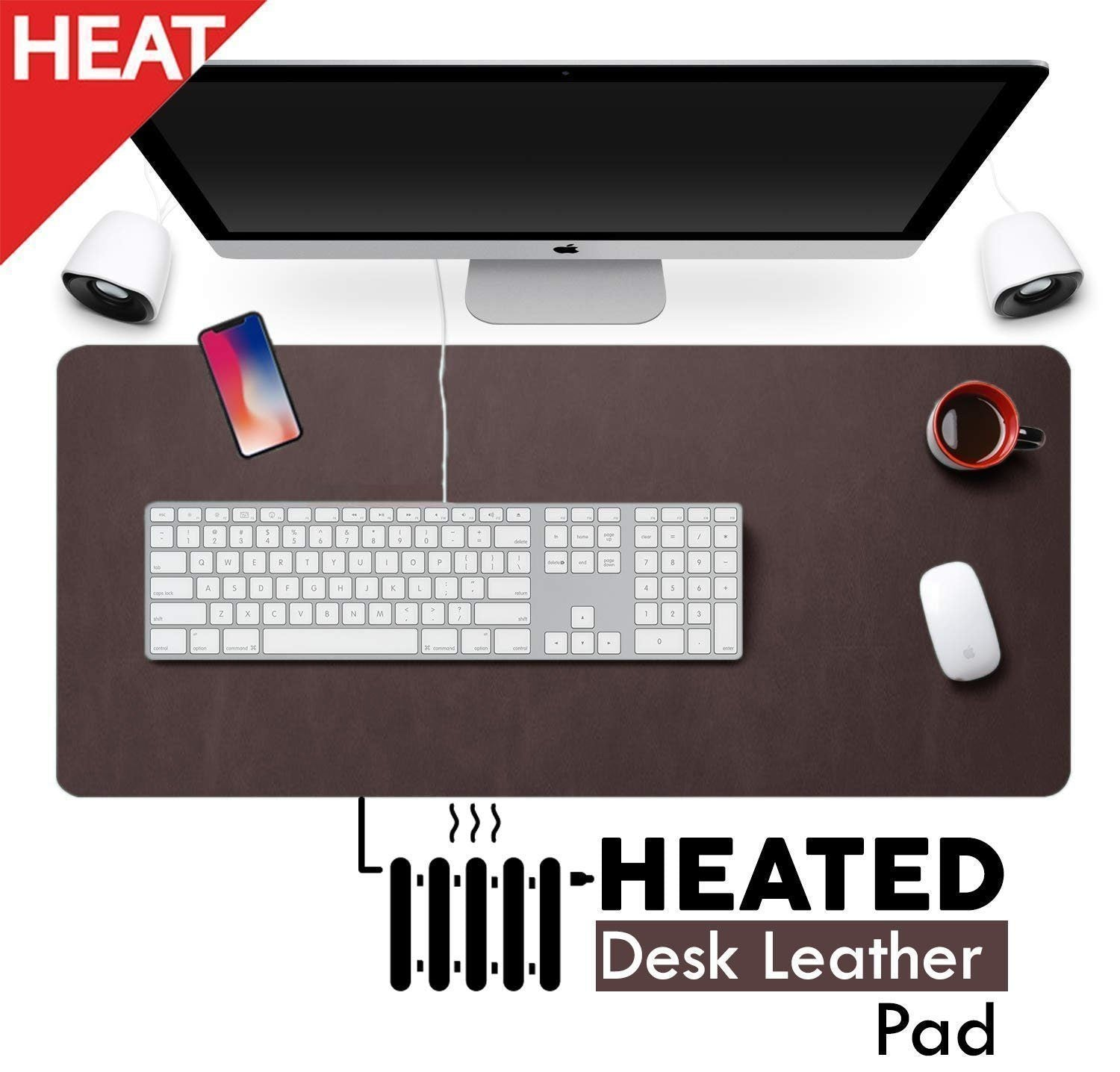 Heated Desk Leather Pad